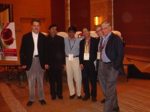 Dr James Melone, USA, with Dr Deepak Jumani , Dr Shashank Joshi, Dr Sree Nair of Mayo Clinic USa, Prof Nir Barzilai of USAand Dr Raman Kapoor. at the 9th International Symposium