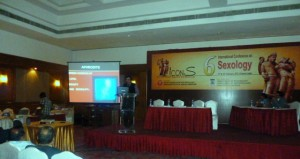Dr Deepak K Jumani Presenting a Scientific paper at the 6th International COnference of Sexology held at Chennai